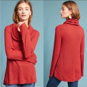 Meadow Rue Galenia Cowl Neck Waffle Knit Themal